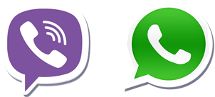 whatsapp-viber icons